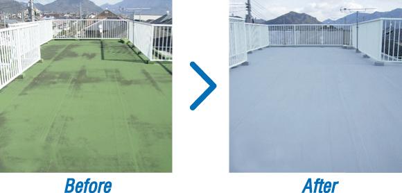 屋上防水の施工事例